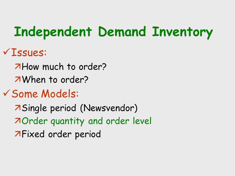 Independent Demand Inventory