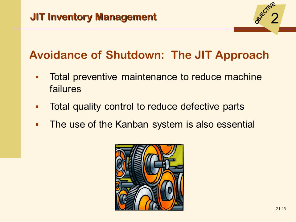 Avoidance of Shutdown: The JIT Approach