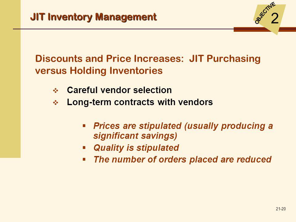 2 JIT Inventory Management