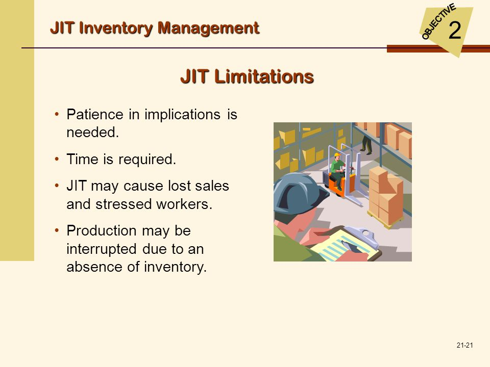 2 JIT Limitations JIT Inventory Management
