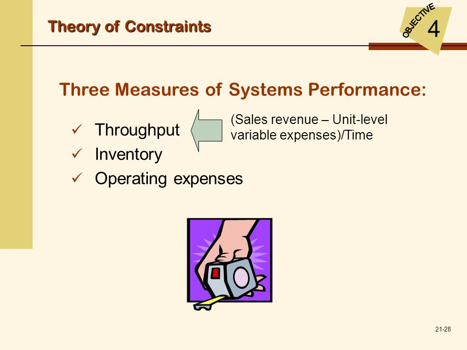 4 Three Measures of Systems Performance: Throughput Inventory