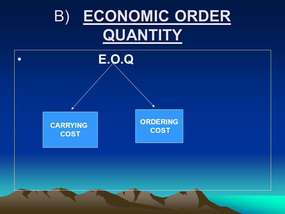 B) ECONOMIC ORDER QUANTITY