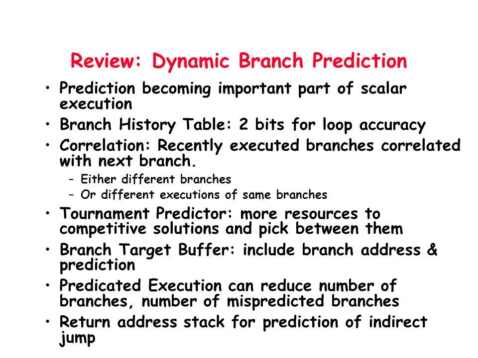 Review: Dynamic Branch Prediction