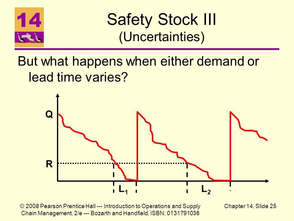 Safety Stock III (Uncertainties)
