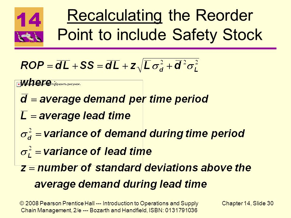 Recalculating the Reorder Point to include Safety Stock
