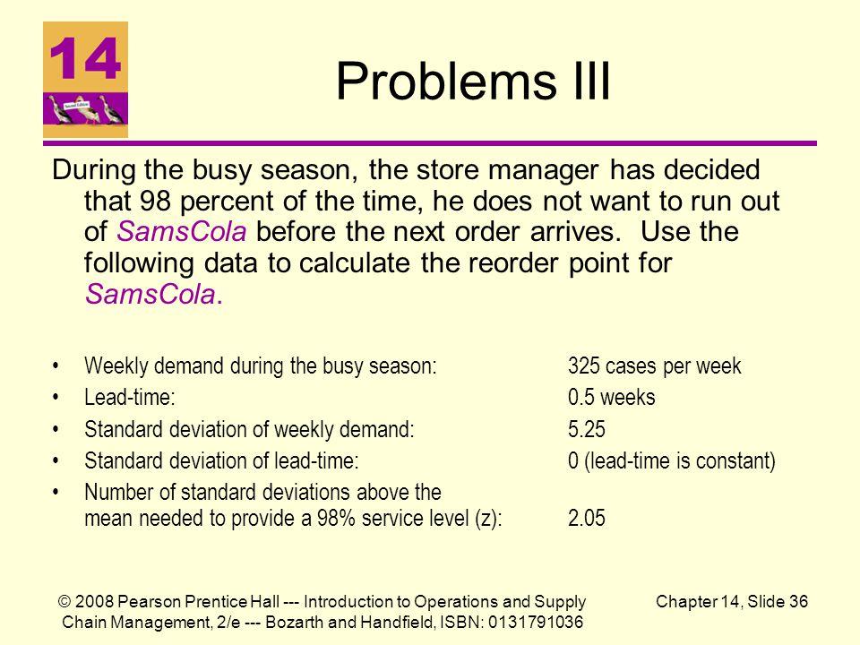 Problems III