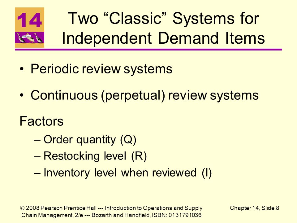 Two Classic Systems for Independent Demand Items