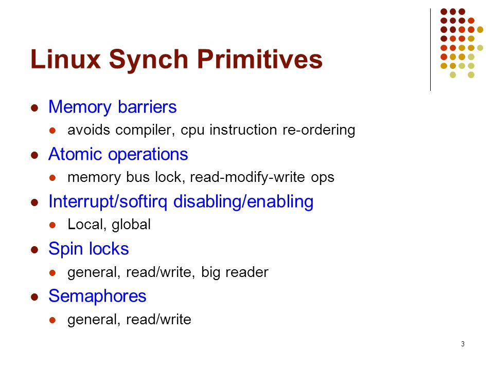 Linux Synch Primitives