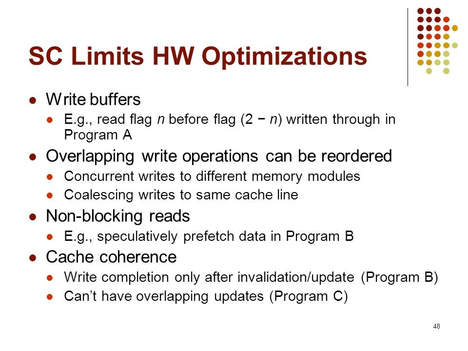 SC Limits HW Optimizations