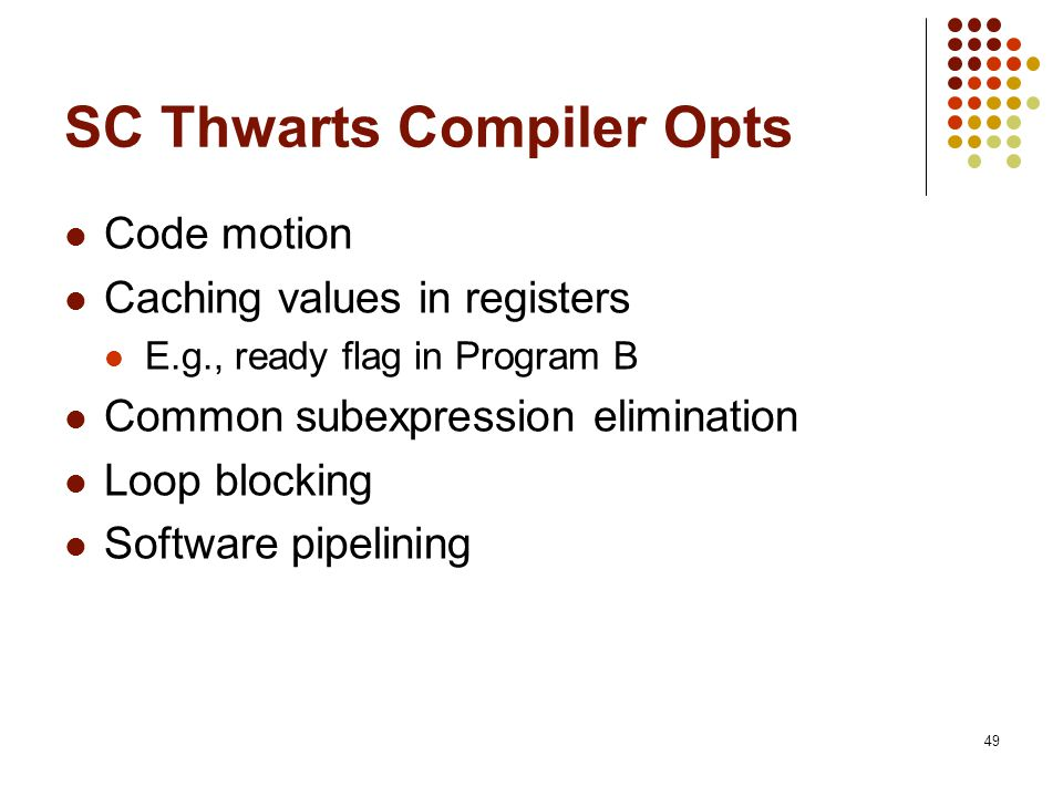 SC Thwarts Compiler Opts