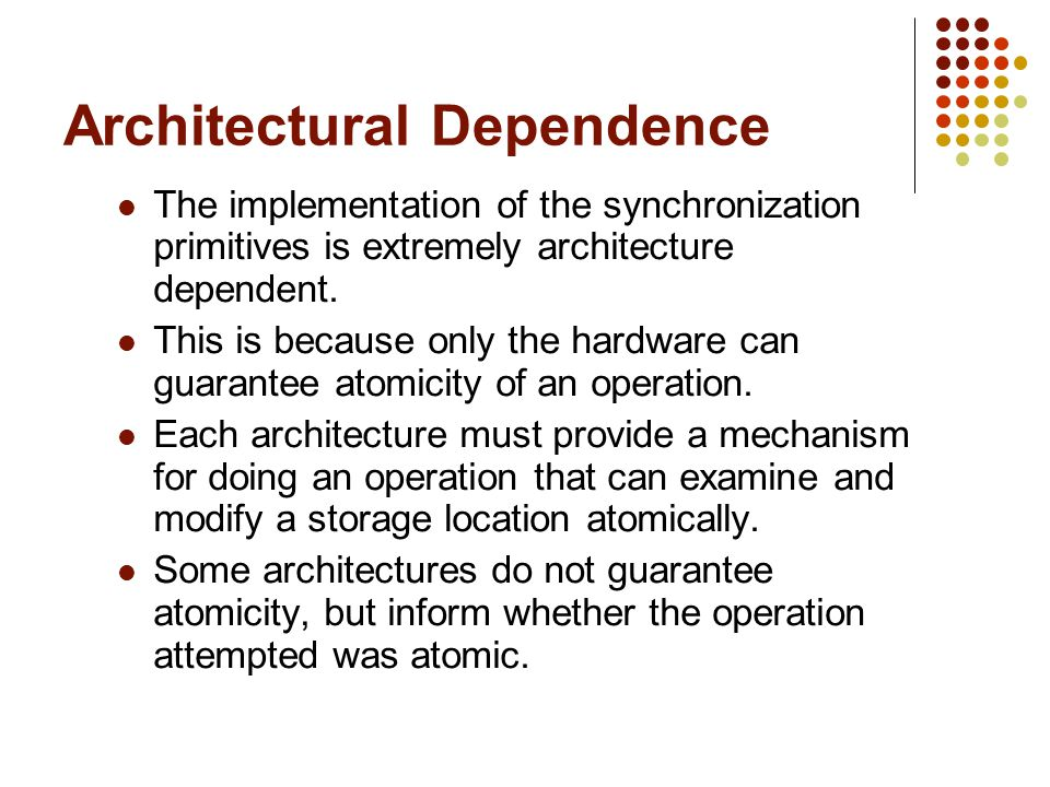Architectural Dependence