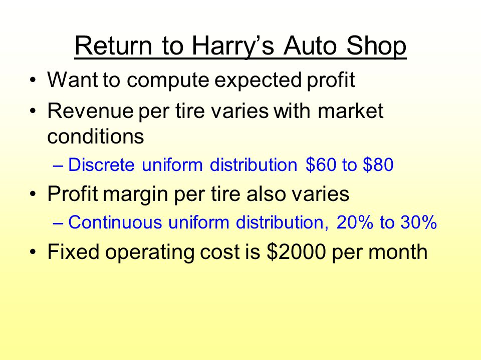 Return to Harry's Auto Shop