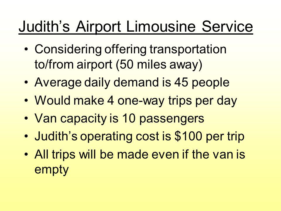 Judith's Airport Limousine Service