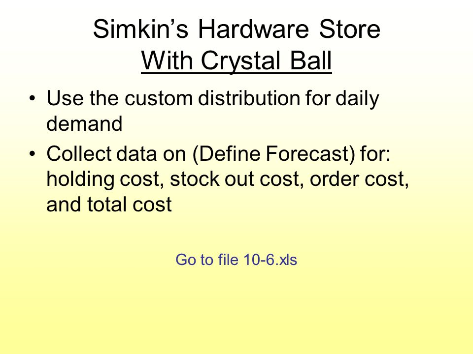 Simkin's Hardware Store With Crystal Ball