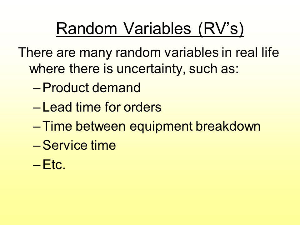 Random Variables (RV's)