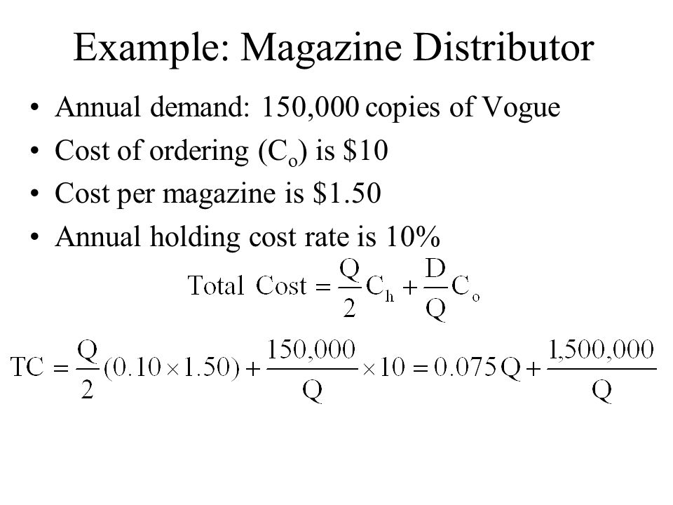 Example: Magazine Distributor