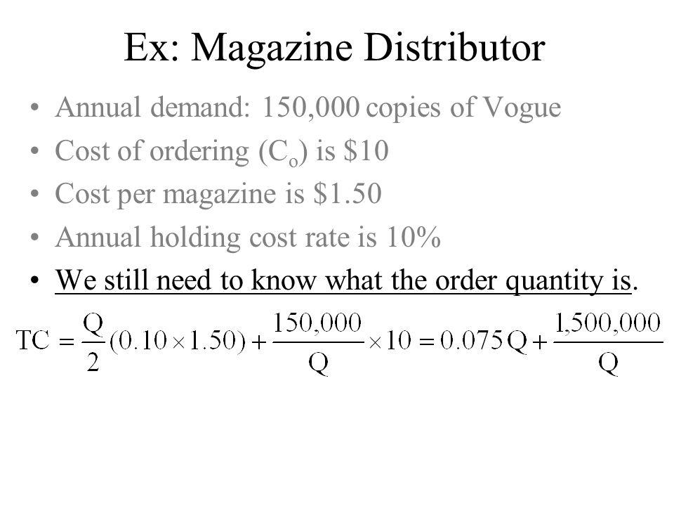 Ex: Magazine Distributor