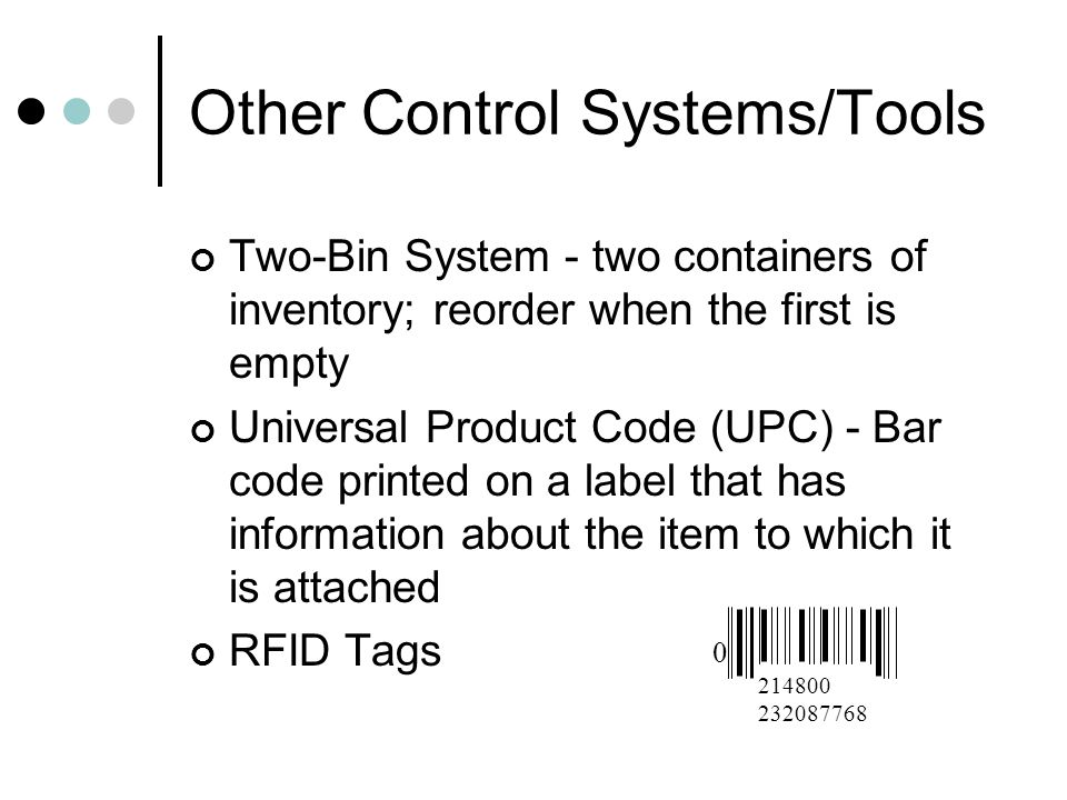 Other Control Systems/Tools
