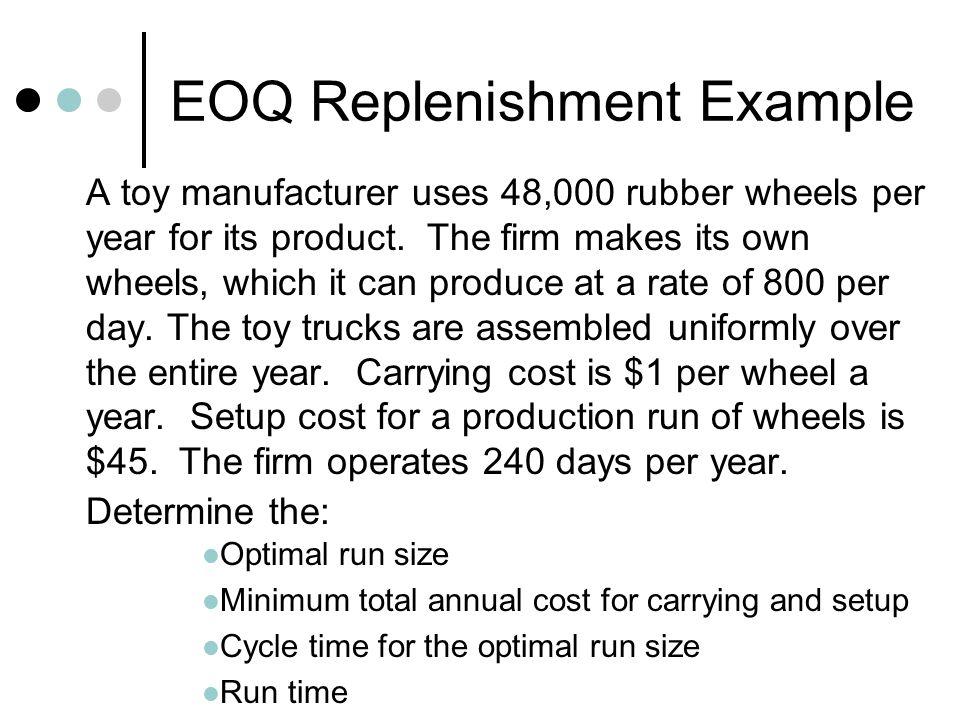 EOQ Replenishment Example