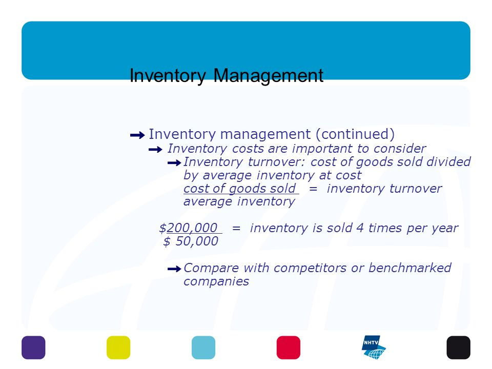 Inventory Management Inventory management (continued)