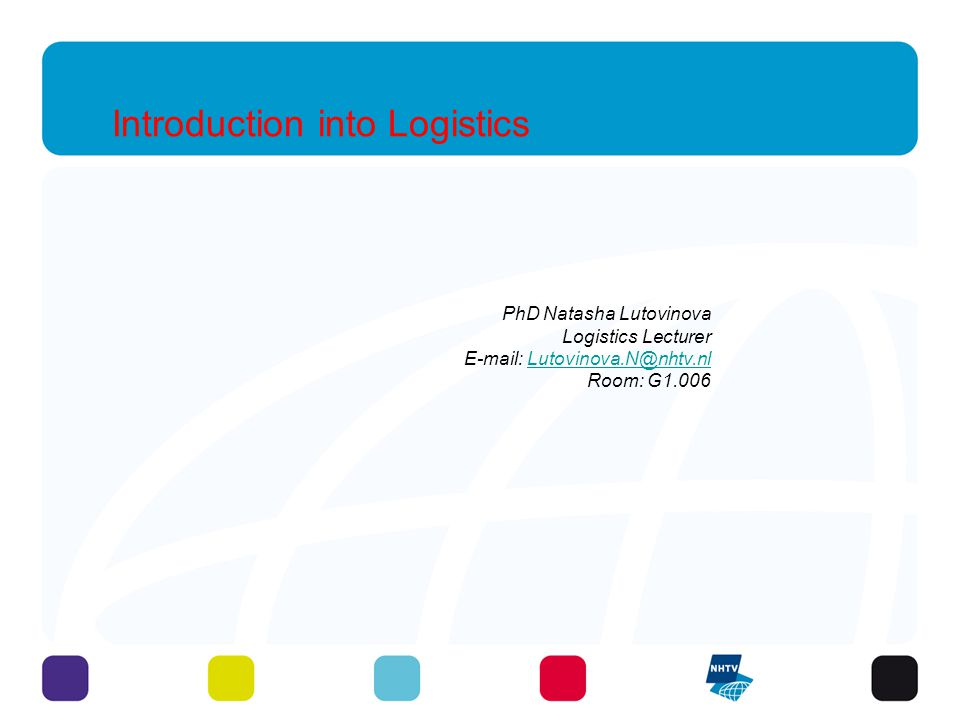Introduction into Logistics