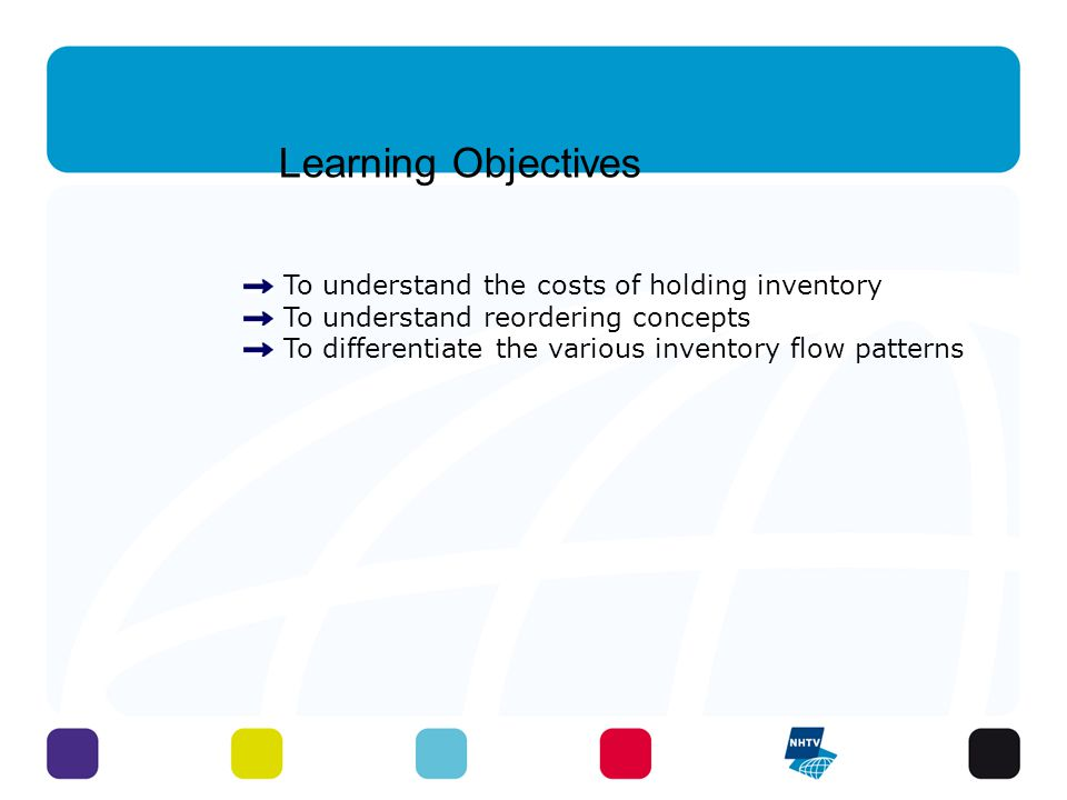 Learning Objectives To understand the costs of holding inventory