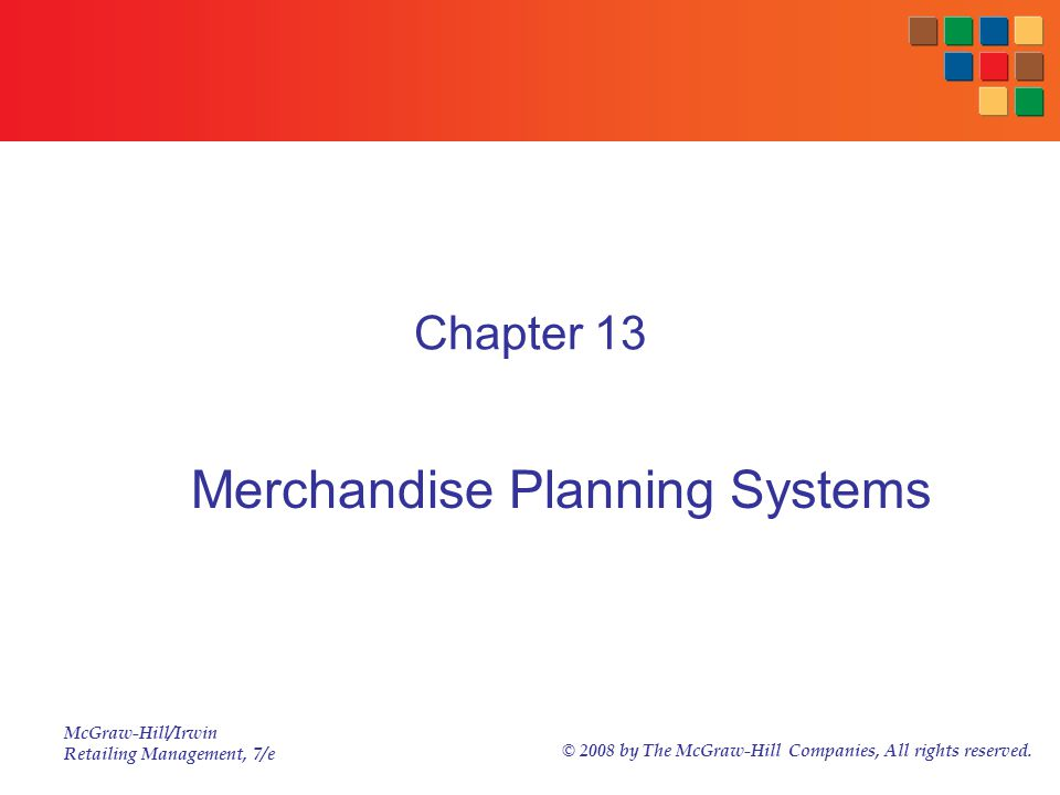 Merchandise Planning Systems