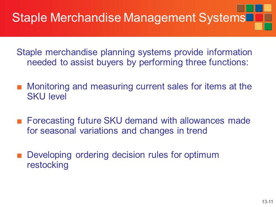 Staple Merchandise Management Systems