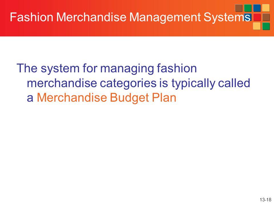 Fashion Merchandise Management Systems