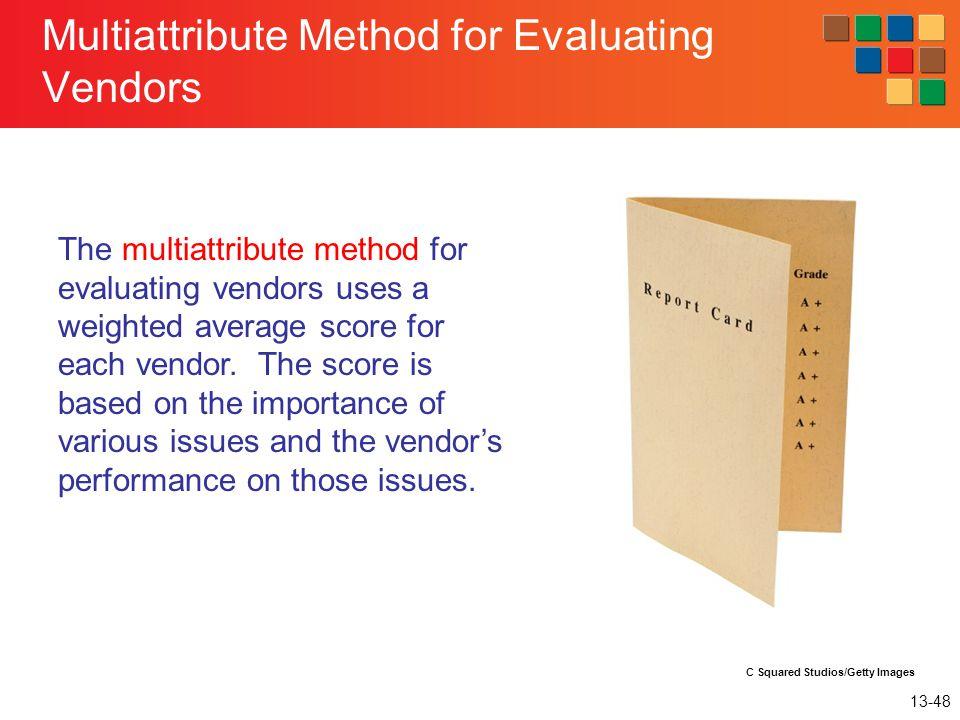 Multiattribute Method for Evaluating Vendors