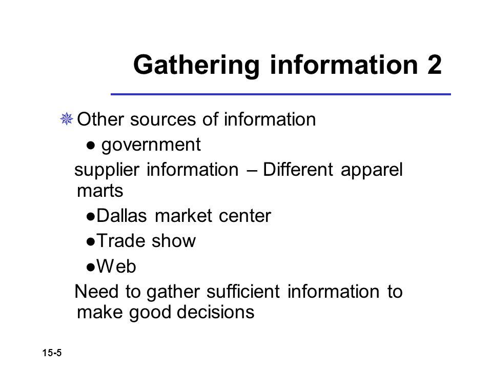 Gathering information 2