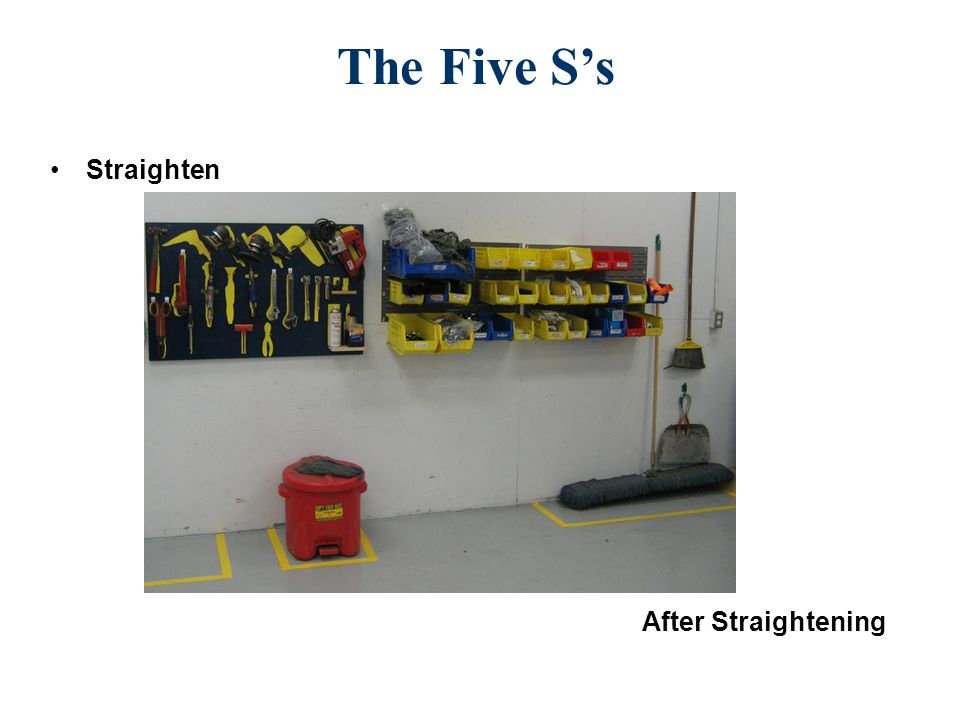 The Five S's Straighten 5S kitchen After Straightening