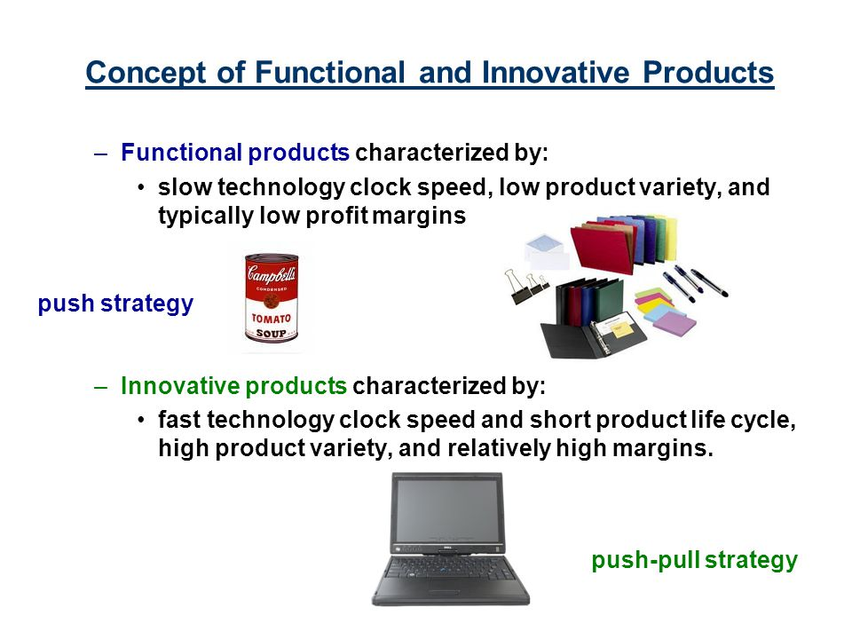 Concept of Functional and Innovative Products