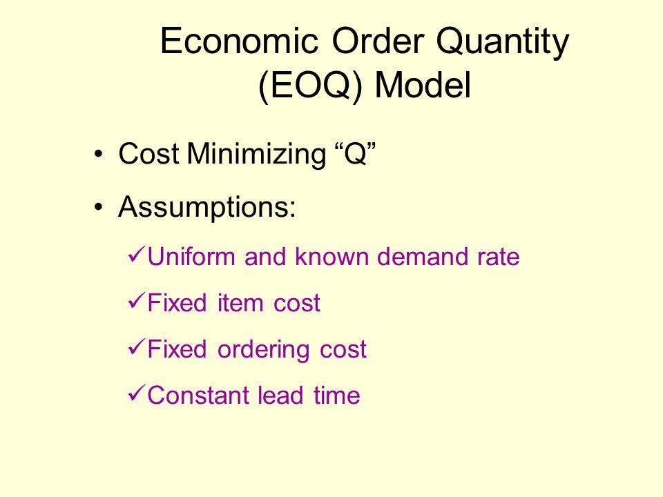 Economic Order Quantity (EOQ) Model