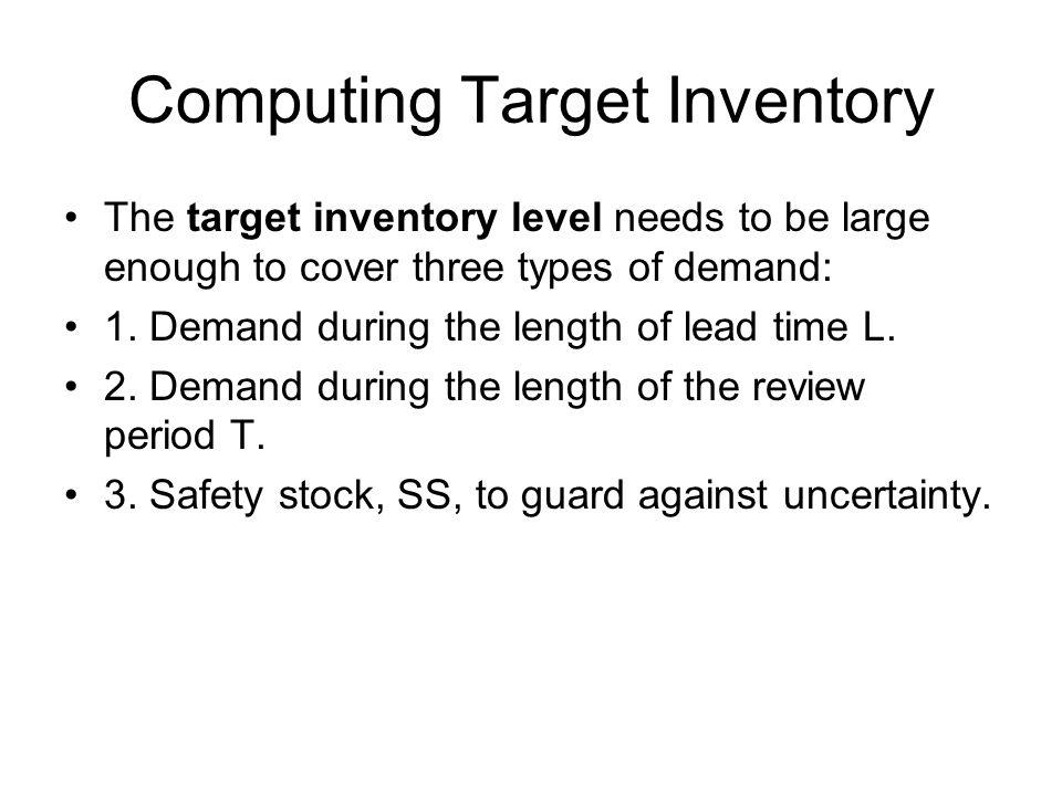 Computing Target Inventory