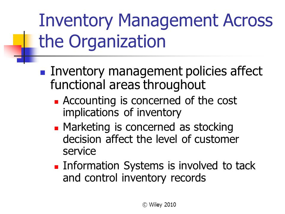 Inventory Management Across the Organization