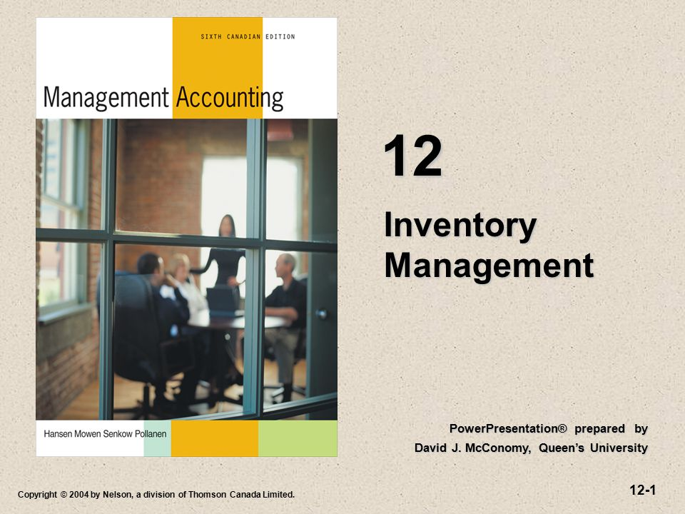12 Inventory Management PowerPresentation® prepared by