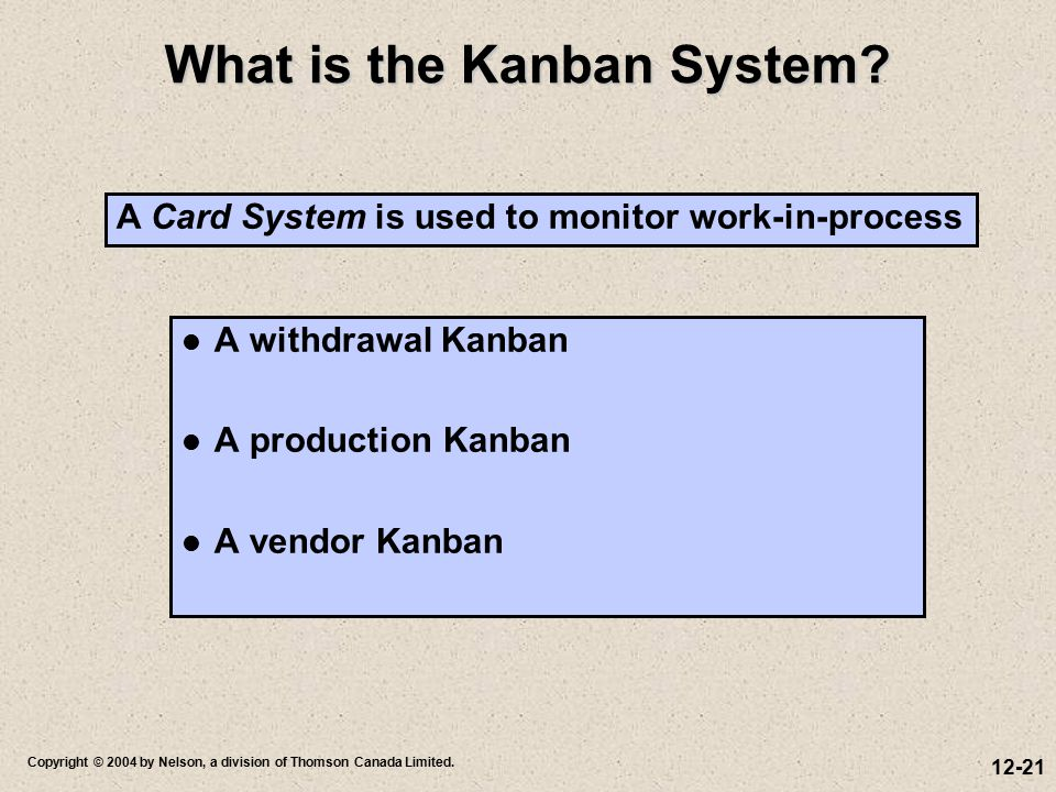 What is the Kanban System