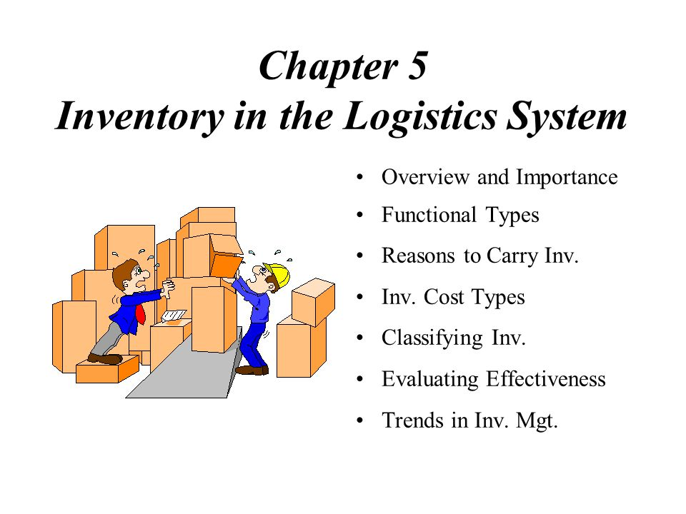 Chapter 5 Inventory in the Logistics System