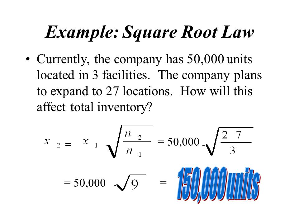 Example: Square Root Law