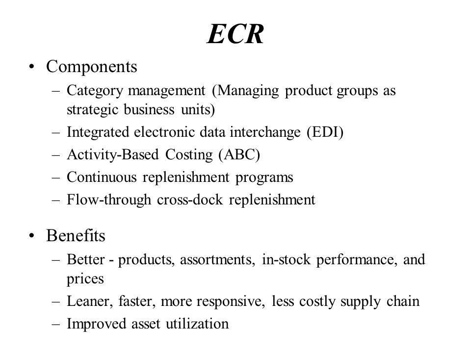 ECR Components Benefits
