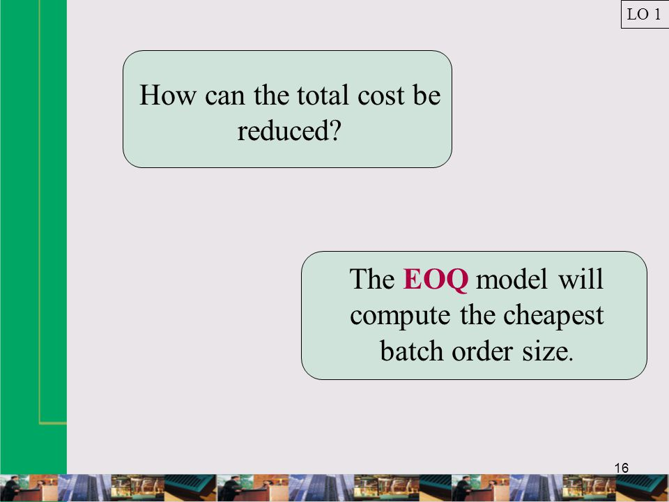How can the total cost be reduced
