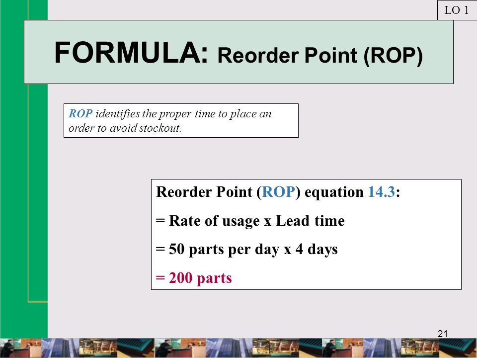 FORMULA: Reorder Point (ROP)