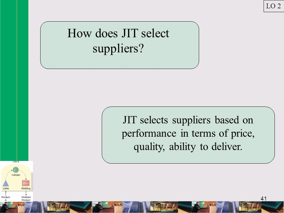 How does JIT select suppliers