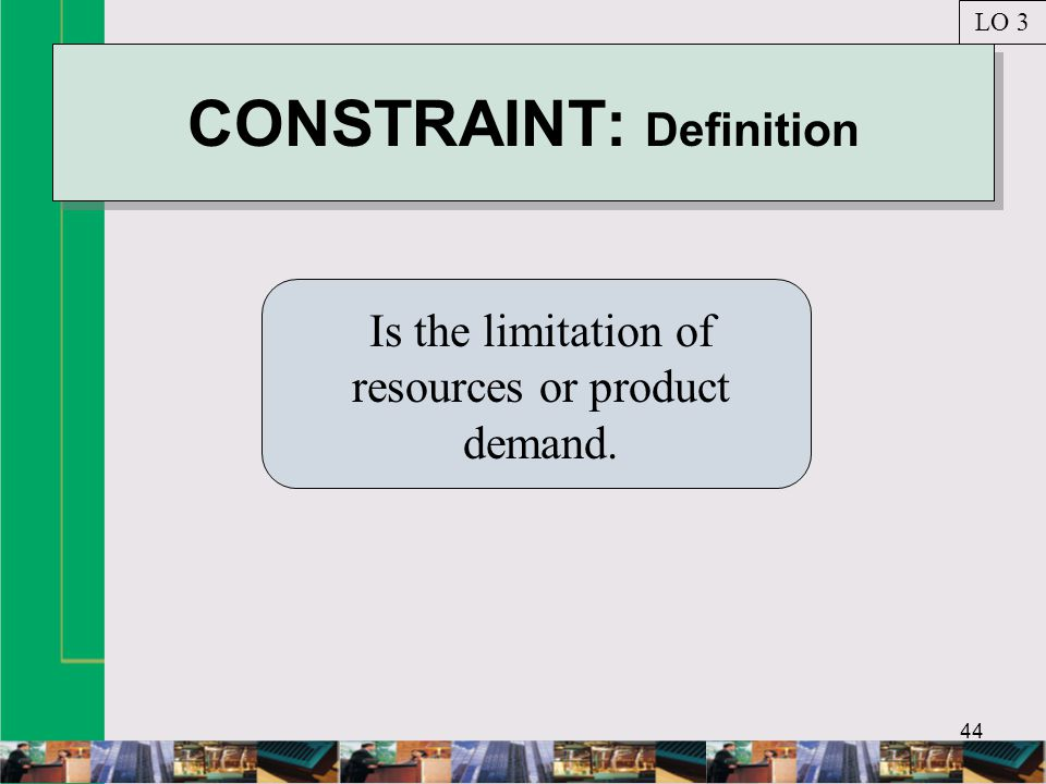 CONSTRAINT: Definition