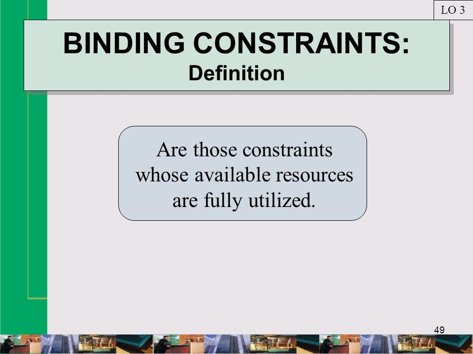 BINDING CONSTRAINTS: Definition