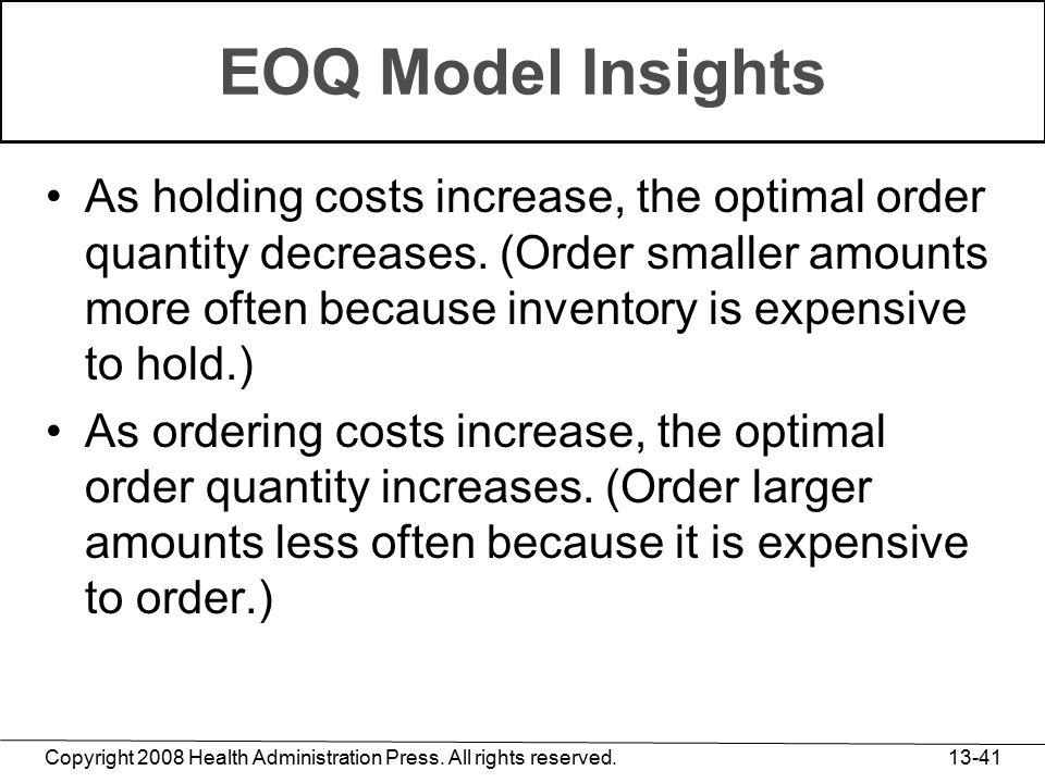 EOQ Model Insights