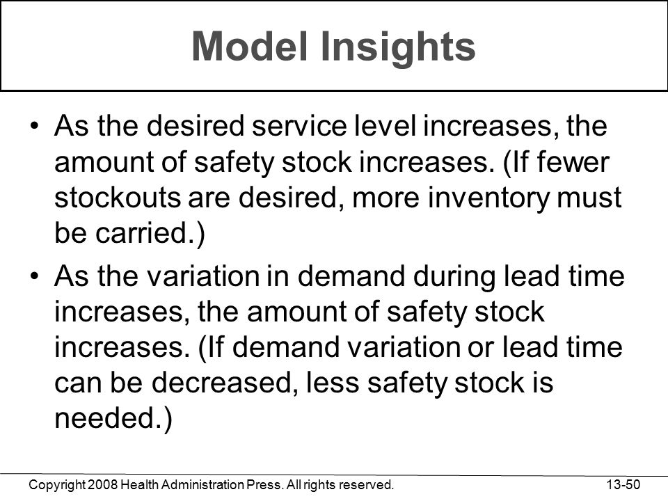 Model Insights