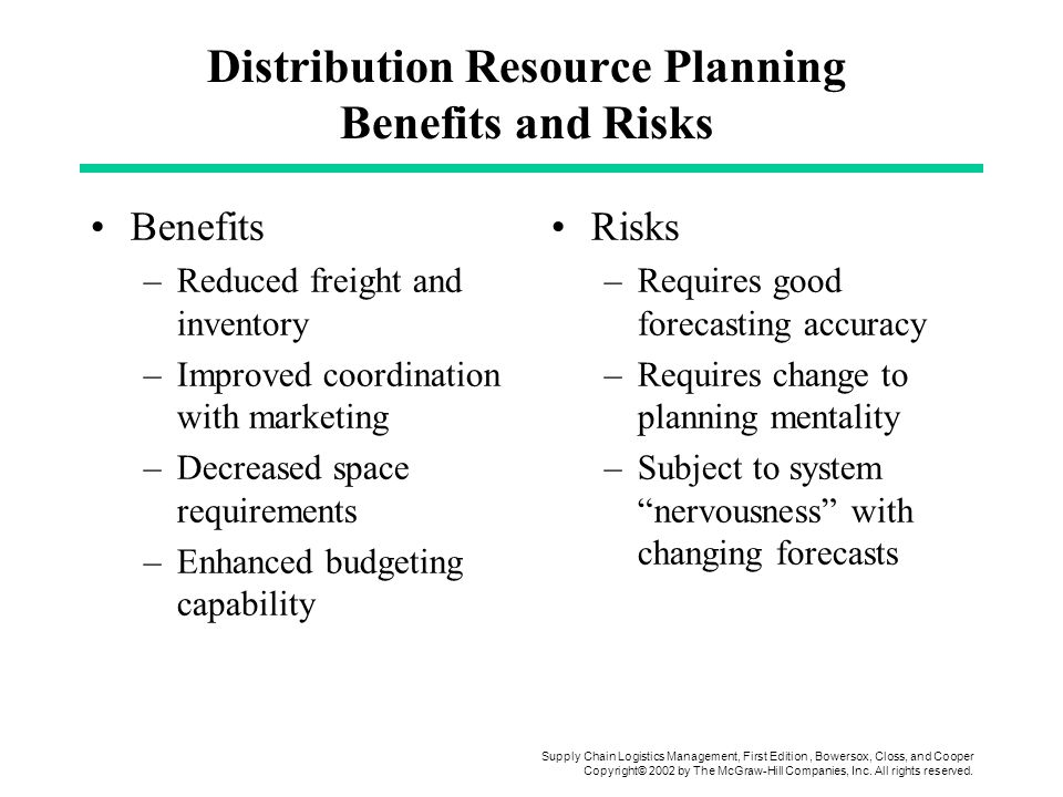 Distribution Resource Planning Benefits and Risks