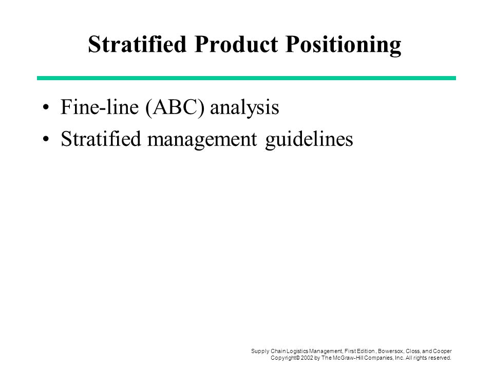 Stratified Product Positioning